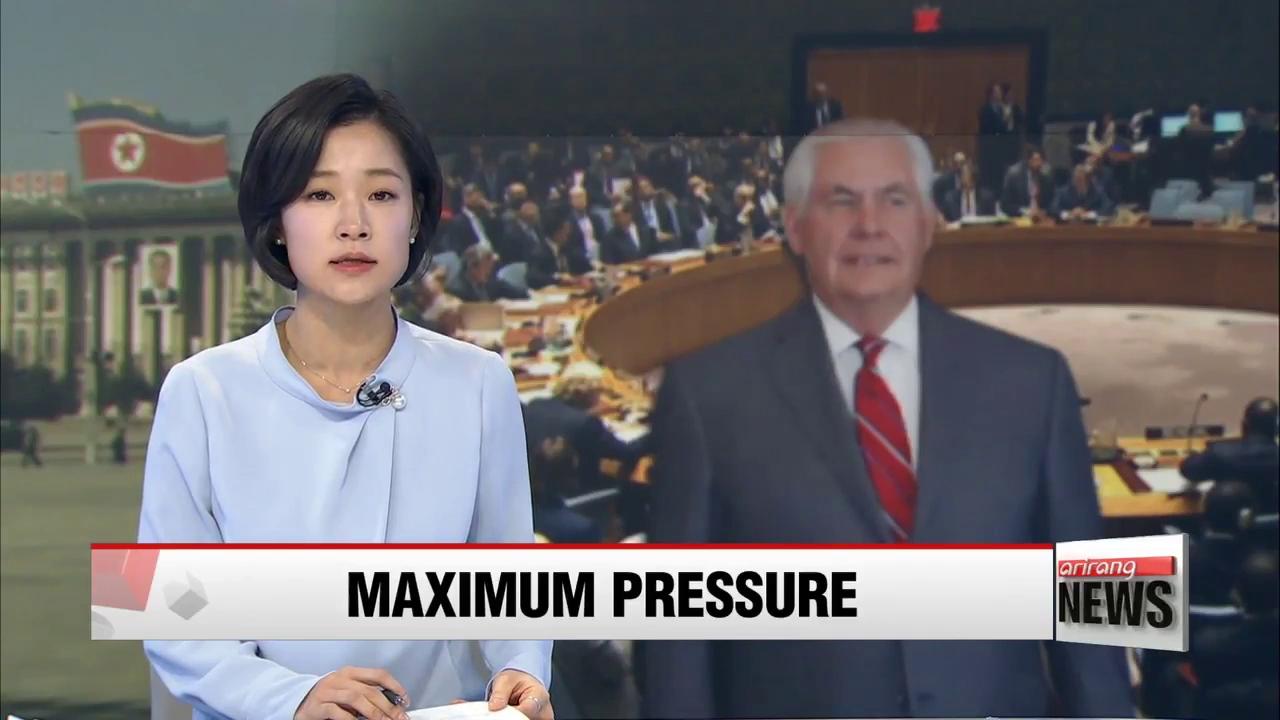 Mỹ thúc giục tăng cường tối đa áp lực lên Triều Tiên tại Hội đồng Bảo an Liên Hợp Quốc. Nguồn: Arirang News