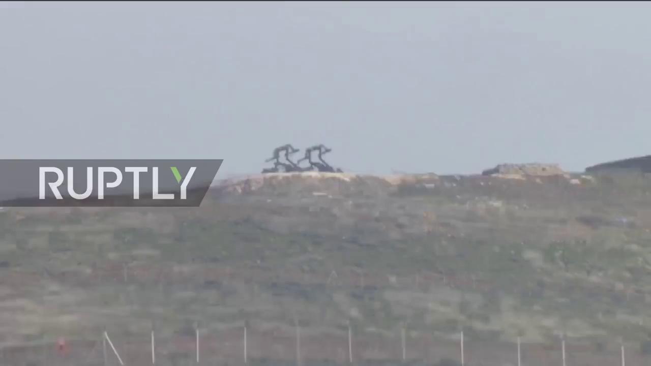 Hệ thống tên lửa của quân đội Thổ Nhĩ Kỳ ở biên giới với Syria. Nguồn: RT
