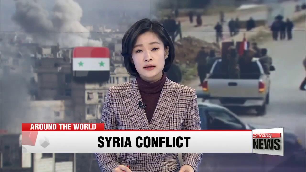 Quân ủng hộ chính phủ Syria bắt đầu tham chiến tại Afrin. Nguồn: Arirang News