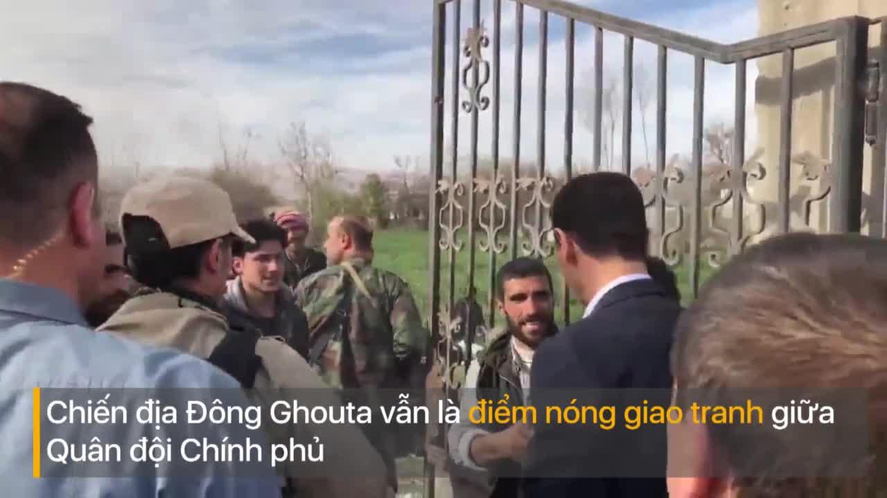 Ông Assad bất ngờ xuất hiện tại khu vực Đông Ghouta