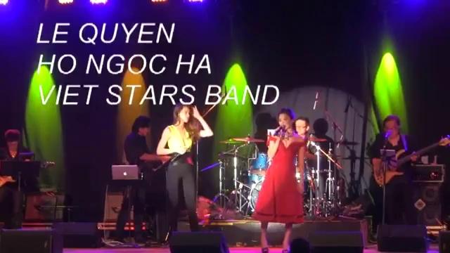 Clip Lệ Quyên hát live cùng Hồ Ngọc Hà.