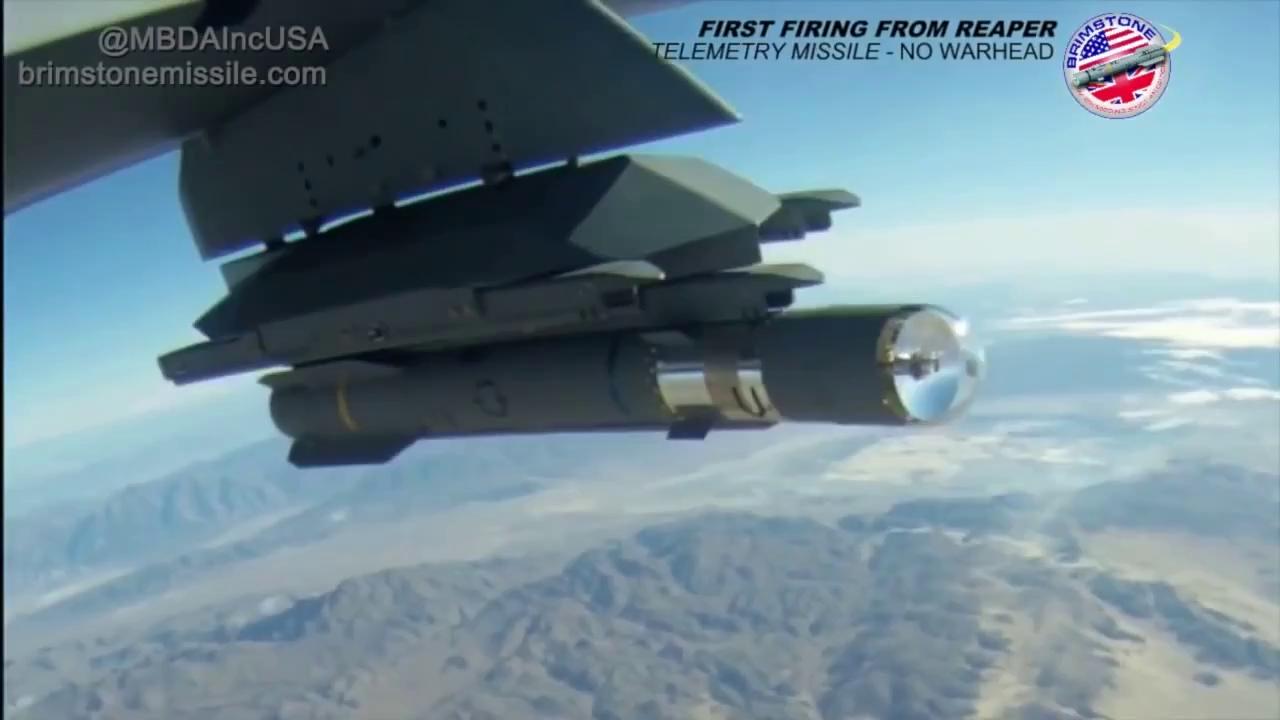 MQ-9 tiêu diệt các mục tiêu thực tế