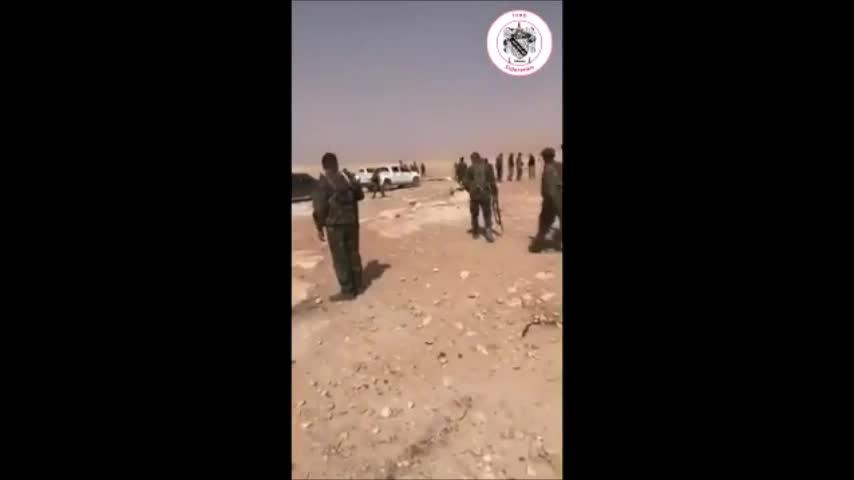 Lực lượng Tiger triển khai tấn công trên vùng sa mạc Qalamou - ngoại ô Damascus