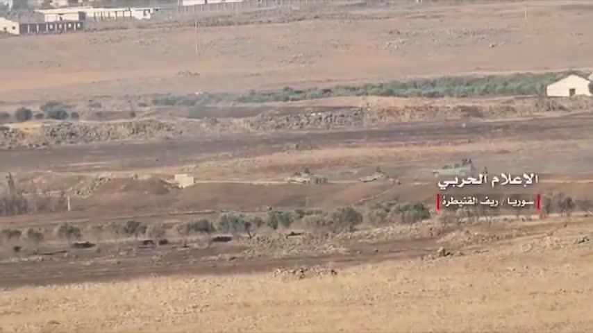 Quân đội Syria, chủ lực là Vệ binh Cộng hòa và lữ đoàn Diều dâu Qunetra tiến công giải phóng 1 thị trấn của tỉnh