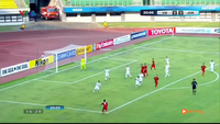 Atieh gỡ hòa 1-1 cho U19 Jordan trước U19 Việt Nam