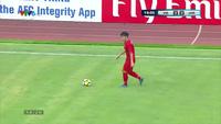 Mạnh Dũng mở tỉ số 1-0 cho U19 Việt Nam trước U19 Jordan