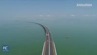 Trung Quốc chạy thử cầu vượt biển dài nhất thế giới
