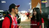 Nữ cổ động viên Việt gây sốt vì ngoại hình xinh xắn khi trả lời đài Hàn Quốc