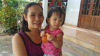 Mẹ con chị Trinh gặp lại nhân ân đã đưa chị vượt cạn thành công