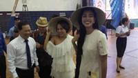 Hoa hậu Tiểu Vy giao lưu khởi nghiệp với thanh niên Bình Định
