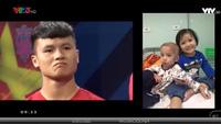 Quang Hải cùng các đồng đội rớt nước mắt trước nghị lực và đam mê bóng đá của bé Tôm 4 tuổi mắc bệnh u não