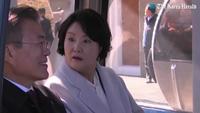 Cử chỉ tình cảm của Tổng thống Hàn Quốc và phu nhân khi thăm Triều Tiên