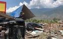 Cảnh đổ nát trên đảo của Indonesia sau thảm họa kép động đất/sóng thần
