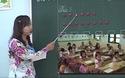 Cô giáo dạy đọc bằng hình vuông, hình tròn