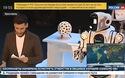 Robot Boris xuất hiện trên bản tin của kênh Russia-24, thực chất chỉ là bộ trang phục do người đóng