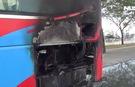 Xe khách bốc cháy trên đường Võ Văn Kiệt-TP HCM