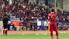 HLV Park Hang-seo hét lớn khi bị giam trong đường hầm, không được ra sân thi đấu. Video: Voz.vn.