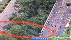 VĐV Trung Quốc gian lận bằng cách chạy đường tắt
