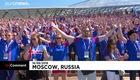 Khoảng 332.000 cổ động viên Iceland đã cùng vỗ tay Viking vào tại khán đài sân vận động Otkritie Arena ngày 16/6. Video: Euro News
