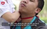 Hướng dẫn võ tự vệ số 3: Hướng dẫn trẻ cách tự vệ bằng khăn quàng đỏ