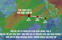 Bão tiến vào Biển Đông, hướng Nam bộ, gió cấp 8, giật cấp 10