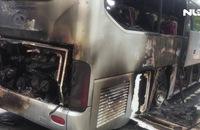 Hơn chục hành khách hoảng loạn nhảy khỏi xe khách bốc cháy