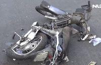 Xe khách mất lái tông 2 xe máy, 4 người nhập viện cấp cứu