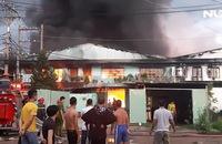 Cháy lớn tại KCN Quang Trung, đe dọa kho xăng và hóa chất