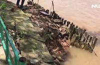 """Hàng chục hộ dân dọc sông Đồng Nai có nguy cơ bị """"hà bá"""" nuốt nhà"""