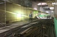Cận cảnh hầm metro đang hoàn thiện