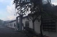 Công ty gỗ trong KCN Tam Phước phát hỏa dữ dội