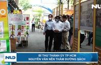 Bí thư Thành ủy TP HCM Nguyễn Văn Nên thăm Đường sách