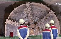 """Lễ đón Robot khoan hầm """"khủng"""" sau khi đào xong 781m dưới lòng đất"""
