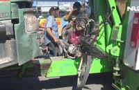 Bị xe ben kéo lê trên đường, 1 phụ nữ tử vong tại chỗ