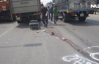 Bị xe tải chở heo tông trúng, 2 vợ chồng thương vong