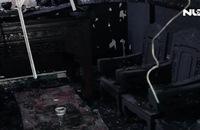 Cháy nhà, quán trà sữa tan hoang