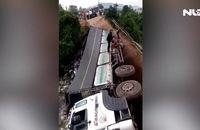 Xe chở quá tải sập cầu ở Lâm Đồng