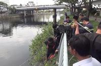3 giờ lặn ngụp dưới kênh Tàu Hủ tìm kiếm nạn nhân nhảy cầu Chà Và