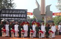 Truy điệu các liệt sĩ được tìm thấy trong hố chôn tập thể ở Long Thành, Đồng Nai