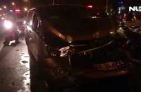 Bắt giữ tài xế nước ngoài nghi say rượu lái ô tô tông hàng loạt phương tiện