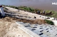 Đã sửa chữa kè sông Dinh bị sụt lún ở Ninh Thuận