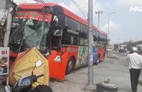 3 xe tông liên hoàn, hàng chục hành khách hoảng loạn