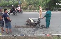Chạy ngược chiều, 2 xe máy tông trực diện, 3 người nguy kịch