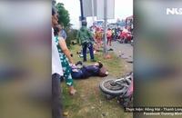 Container tông hàng loạt xe máy dừng đèn đỏ, hàng chục người chết và bị thương