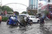 Ảnh hưởng hoàn lưu bão số 1, mưa lớn, Bạc Liêu ngập kỷ lục