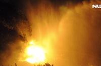 Cháy lớn tại khu nhà xưởng trong đêm