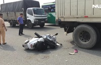 Tông đuôi container, nam thanh niên chết thảm trên QL 1