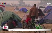 Cuộc sống tạm bợ của người dân sau vụ cháy rừng ở California, Mỹ