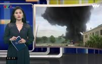 Cháy kho nhựa thông ở Uông Bí, Quảng Ninh