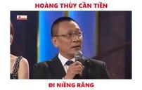 """Hoàng Thùy xin tiền """"chồng"""" để đi niềng răng"""